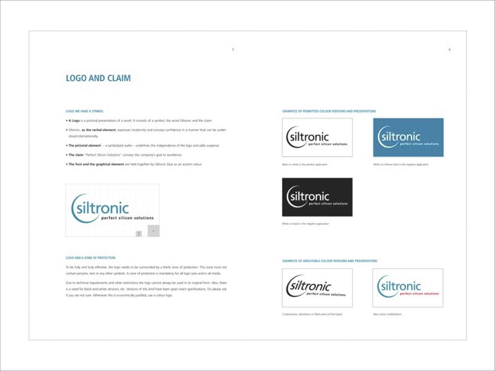 Logo und Claim Siltronic