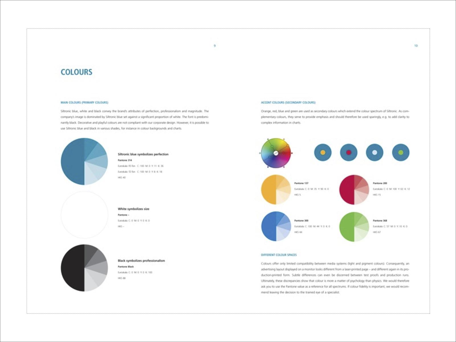 Corporate Farben Siltronic