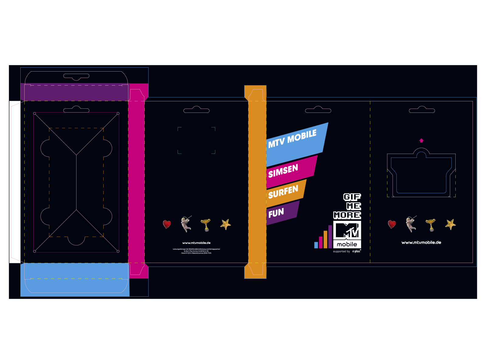 Verpackung von SIM-Karten für MTV Mobile