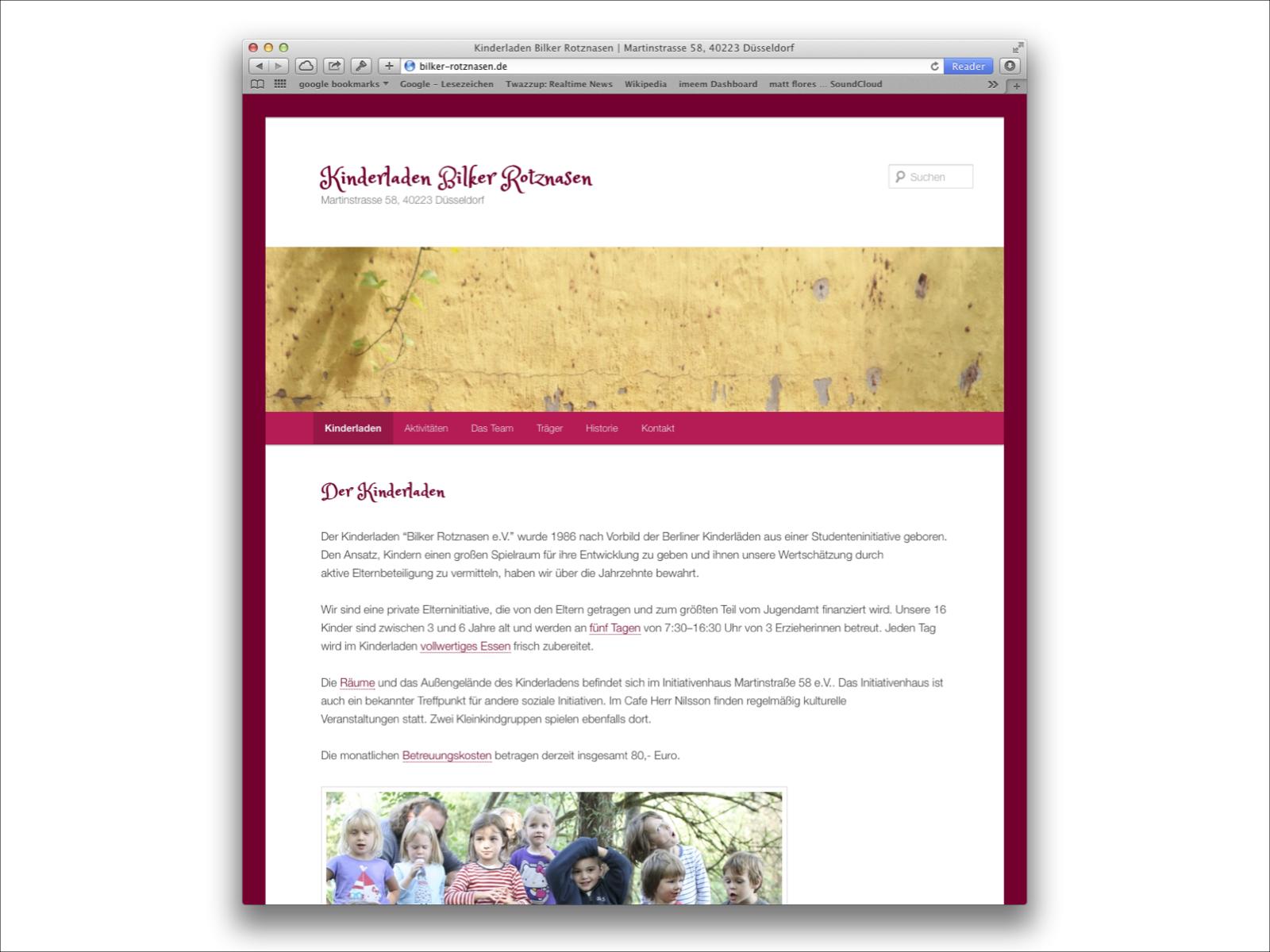 Wordpress CMS für Kiindergarten