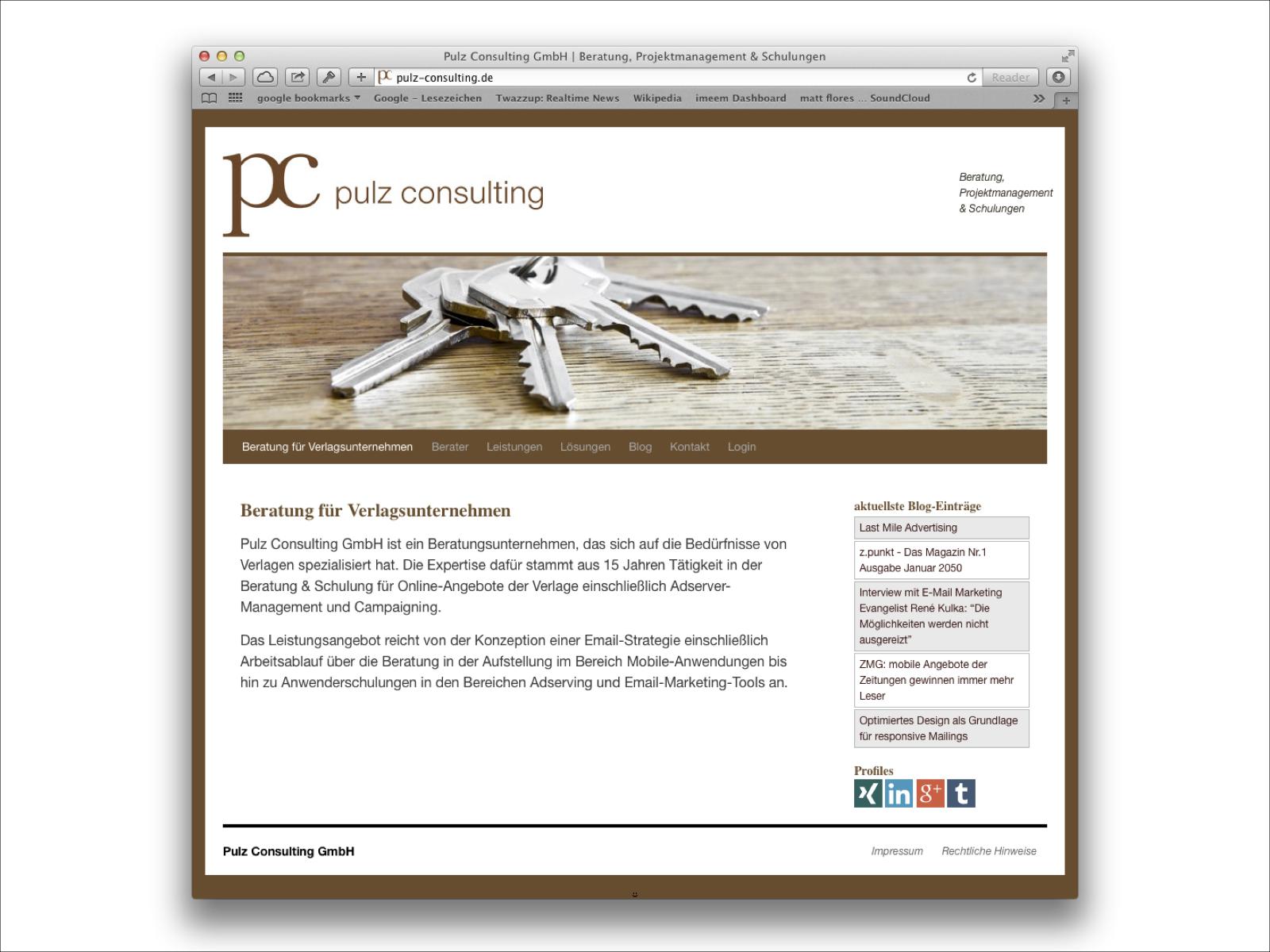 Wordpress CMS für Pulz Consultiing